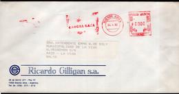 Argentina - 1992 - Lettre - Cachet Spécial - Affranchissement Mécanique - Bandeleta Parlante CARGILL SACI - A1RR2 - Cartas