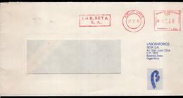 Argentina - 1992 - Lettre - Cachet Spécial - Affranchissement Mécanique - Laboratorios Beta - A1RR2 - Cartas