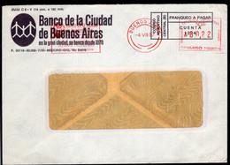 Argentina - 1987 - Lettre - Cachet Spécial - Affranchissement Mécanique - Banco Ciudad De Bs. As. - A1RR2 - Cartas