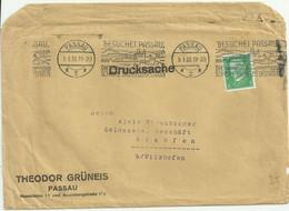German Reich Cover/ Brief. PASSAU DIE SCHONE DREIFLUSSESTADT. Passau 1933. - Storia Postale