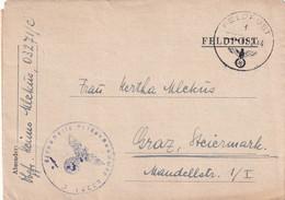 6678 - Österreich - Feldpost , Brief , Faltbrief , Graz -  1944 - 1939-45