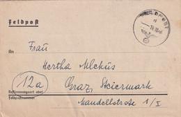 6681 - Österreich - Feldpost , Brief , Faltbrief , Graz -  1944 - 1939-45