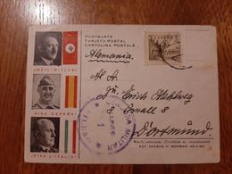 1938 Propaganda Postcard From Bilbao To Dortmund - Censored - Hitler Franco Mussolini Postkarte - 1931-50 Cartas