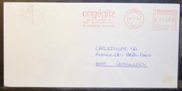Belgium - Advertising Meter Franking Cover EMA 1993 Grivegnee Cogégaz Gaz Distributor - 1980-99