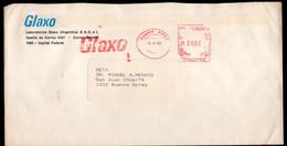 Argentina - 1988 - Lettre - Cachet Spécial - Affranchissement Mécanique - Glaxo - A1RR2 - Cartas