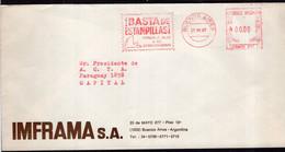 Argentina - 1987 - Lettre - Cachet Spécial - Affranchissement Mécanique - IMFRAMA SA - A1RR2 - Cartas