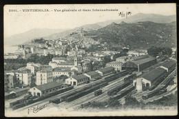 Ventimiglia Vue Générale Et Gare Internationale Giletta Pionere 1903 - Other Cities