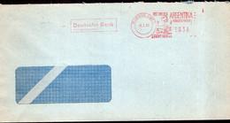 Argentina - 1992 - Lettre - Cachet Spécial - Affranchissement Mécanique - Deutsche Bank AG - A1RR2 - Lettres & Documents