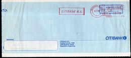 Argentina - 1999 - Lettre - Cachet Spécial - Affranchissement Mécanique - Citybank - A1RR2 - Lettres & Documents