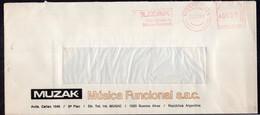 Argentina - 1988 - Lettre - Cachet Spécial - Affranchissement Mécanique - Muzak - Musica Funcional - A1RR2 - Cartas