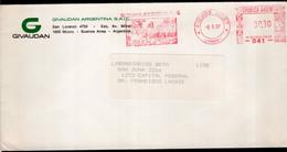Argentina - 1987 - Lettre - Cachet Spécial - Affranchissement Mécanique - Givaudan Argentina SAIC - A1RR2 - Cartas