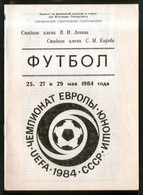Official Football Programme 1984 Ireland, Scotland, Greece, Portugal, European Youth Championship, Group Stage Leningrad - Books