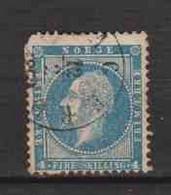 NORVEGE / NORGE.  (Y&T) 1856 - N°4  *Oscar 1er, Roi De Suède Et De Norvège *   4s  Obli () - Used Stamps