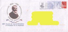 France 1999, French President / Président Français / Emile Loubet On Postmark On A Circulated Cover. - Other