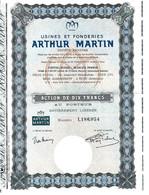 ARDENNES BELGES Puis ARDENNES FRANCAISES V.HISTORIQUE USINES ET FONDERIES ARTHUR MARTIN REVIN Ardennes - Industry