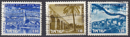 ISRAELE - 1973/1975 - Lotto Di 3 Valori Usati: Yvert 536/538. - Usados (sin Tab)