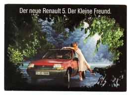 1985--voiture RENAULT 5--carte Publicitaire  Allemande....timbre....cachet .............. - Passenger Cars