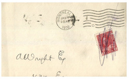 (JJ 21) Canada (front Only ) Part Of Cover Posted July 24th 1918  (bottom Is Folded) - Oblitérés