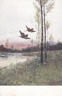 Hunting Jagd Chasse  Jack  Schnepfe  Woodcock  Becasse  Oiseaux  Geflügel Signe Heinrich ?  Old Cpa. - Caccia