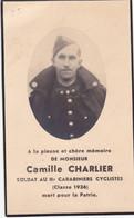 47914 -   Image Pieuse -  Soldat Au II  CARABINIERS CYCLISTES - Brume  Trois-ponts  1916 -  Prenzlau   1940 Militaria - Trois-Ponts