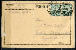 "German Empires 1923  INFLA  Bedarfskarte/Card  Mit Mi.Nr.314 MeF Mit Klaren Tstp.""Leipzig,Gohlis-Berlin ""1 Beleg - Infla"