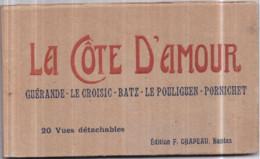 Dépt 44 - La CÔTE D'AMOUR - Album Carnet De 20 Cartes Postales Détachables Éditions F. CHAPEAU, Nantes - Zonder Classificatie