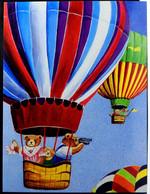 Balloon Play By  Dorie  Petrochko  1985 Post Card Collector Postcard 4x6 Like New Teddy Bears - Contemporanea (a Partire Dal 1950)