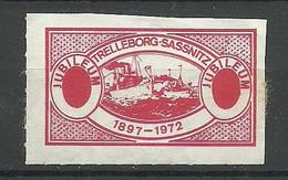 Sweden Schweden Trelleborg-Sassnitz Jubileum 1897-1972 Vignette - Trelleborg Schweden 1972 * Ferry Schiffpost - Sonstige