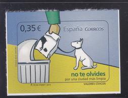 Spain 2011 Care Help Dog Chien MNH 1V ** - 2011-... Nuevos & Fijasellos