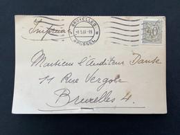 Postkaart OBP 853 Heraldieke Leeuw 40c BRUXELLES X BRUSSEL 8.5.61 - 19 - 1951-1975 Lion Héraldique
