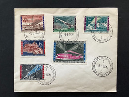 Briefomslag Met Volledige Reeks Wereldtentoonstelling Brussel EXPO58 OBP1047-1052 - Cartas