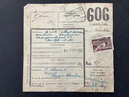 Spoorwegborderel 1947 TR291 Postpakketzegels Nieuwe Waarde ELSENBORN - 1942-1951