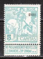 96**  Caritas Surchargé 1911 - Bonne Valeur - MNH** - COB 45 - Vendu à 13% Du COB!!!! - 1910-1911 Caritas