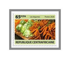 CERNTRALAFRICA 2020 MNH Vegetables Gemüse Légumes 1v - OFFICIAL ISSUE - DHQ2109 - Légumes