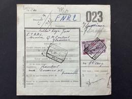 Spoorwegborderel 1949 TR300 FRAMERIES CAISSE 1 NR 7 - 1942-1951