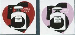 2021 - Autocollant - Autoadhésif -  Cœur De Chanel 1.08 + 2.16 Neuf ** - Adhesive Stamps