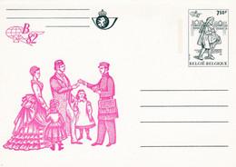 Carte Entier Postal BK33 Belgica 82 Messager De Bâle - Tarjetas Ilustradas