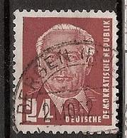 Allemagne Démocratique Michel 324z (Yvert ) O Tirage Unique De Juillet 1952 - Used Stamps