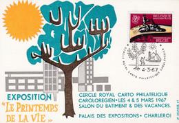 1406 Exposition Le Printemps De La Vie Charleroi - Cartas