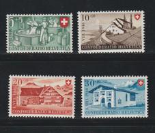 Suisse - YT N° 419 à 422 Neufs** (cote 20 Euros) - Unused Stamps