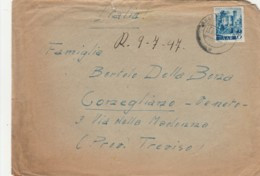 LETTERA 1947 SAAR DIRETTA ITALIA (LN361 - Zona Francesa