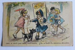 """GERMAINE BOURET  """" Non A Sont Pas Cales Mes Mains ...j Les Lavees La Semaine Derniere """"  E A E C PARIS L Homme Sandwich - Bouret, Germaine"""