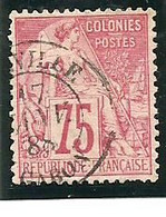 N° 58 Des Col.Gén. 75C Rose Oblitéré LIBREVILLE -GABON -  1888 -- - Oblitérés
