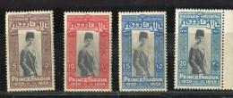 Egypte * N° 136 à 139 - Naissance Du Prince Farouk - Gebraucht
