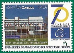 España. Spain. 2019. Efemérides. 70 Aniversario Consejo De Europa - 2011-... Nuevos & Fijasellos