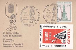 CATTOLICA - RIMINI - CARTOLINA CON ANNULLO SPECIALE DEL III° GRAN GIALLO CITTA' DI CATTOLICA - 2/6/1975 - Rimini