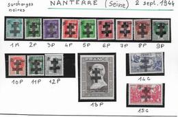 Timbres Neufs Libération  De  Nanterre - Liberación