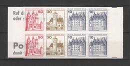 "ALLEMAGNE / BERLIN - Carnet Série Courante ""Châteaux"" - 1977 - Yvert  C496b - Carnets"