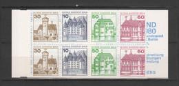 "ALLEMAGNE / BERLIN - Carnet Série Courante ""Châteaux"" - 1977/80 - Yvert  C575b - Carnets"