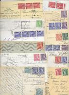 LOT DE 100 CARTES AVEC TIMBRE MERCURE - 1938-42 Mercure